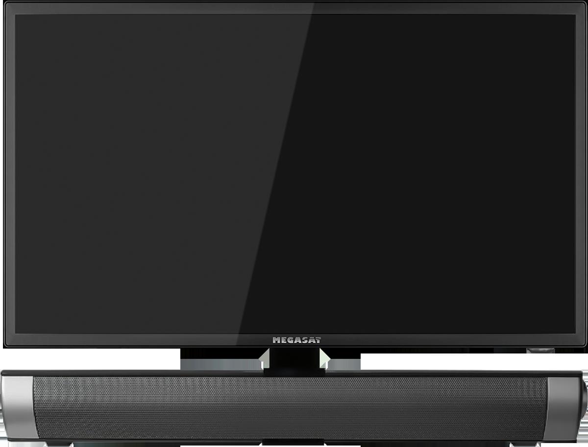 Neu: 32-Zoll-Bildschirm und Soundbar von Megasat