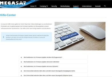 Megasat – neues Hilfecenter